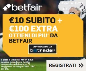 Bonus benvenuto Betfair