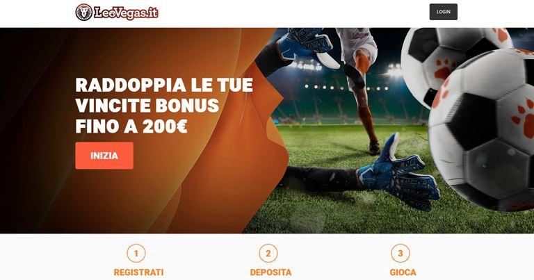 Leovegas Bonus Benvenuto Sport