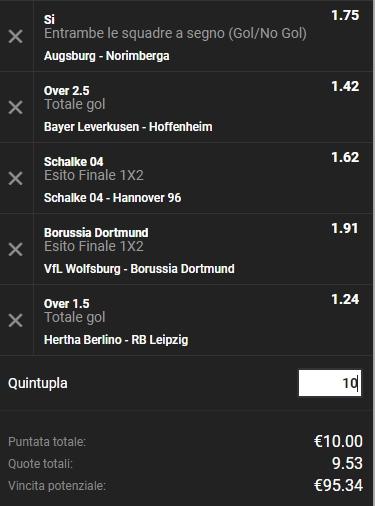 Schedina Bundesliga 03-11-2018