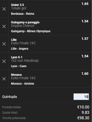 Schedina Ligue1 18-05-2019