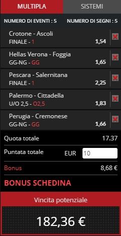 Schedina Serie B 11-05-2019_